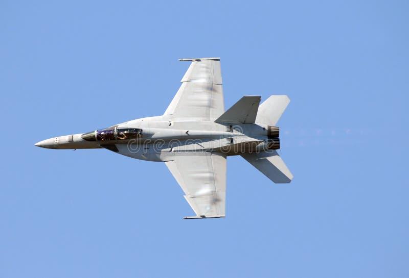 Combattente di jet del blu marino fotografia stock libera da diritti