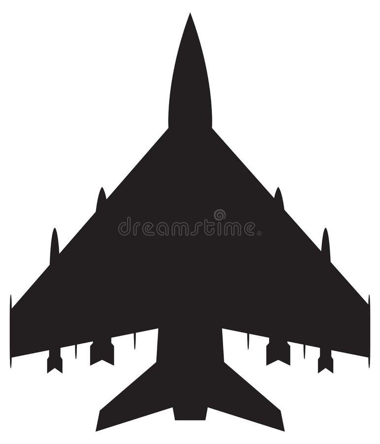 Combattente Jet Silhouette illustrazione vettoriale