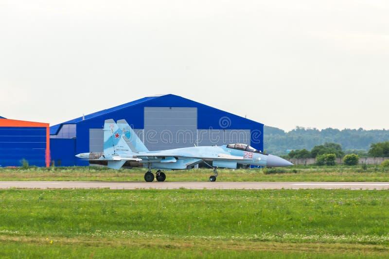 Combattente piano russo Su-35 Flanker-e fotografie stock