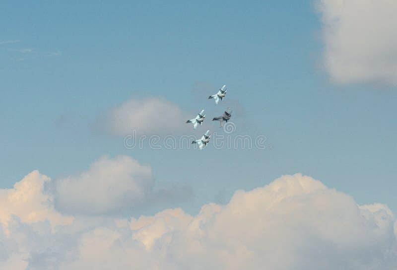 Combattente piano russo Su-35 Flanker-e immagine stock libera da diritti