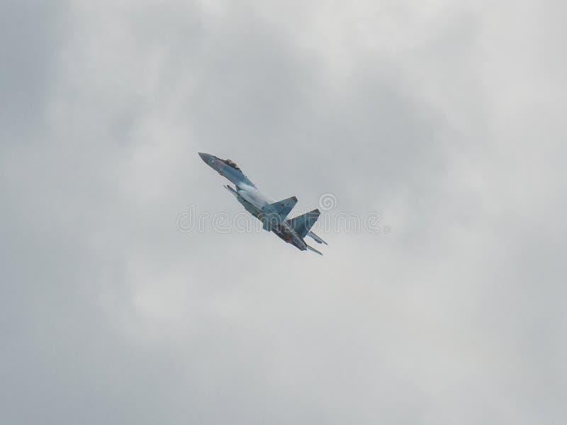 Combattente piano russo Su-35 Flanker-e fotografie stock libere da diritti