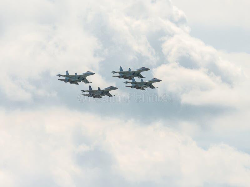 Combattente piano russo Su-35 Flanker-e fotografia stock
