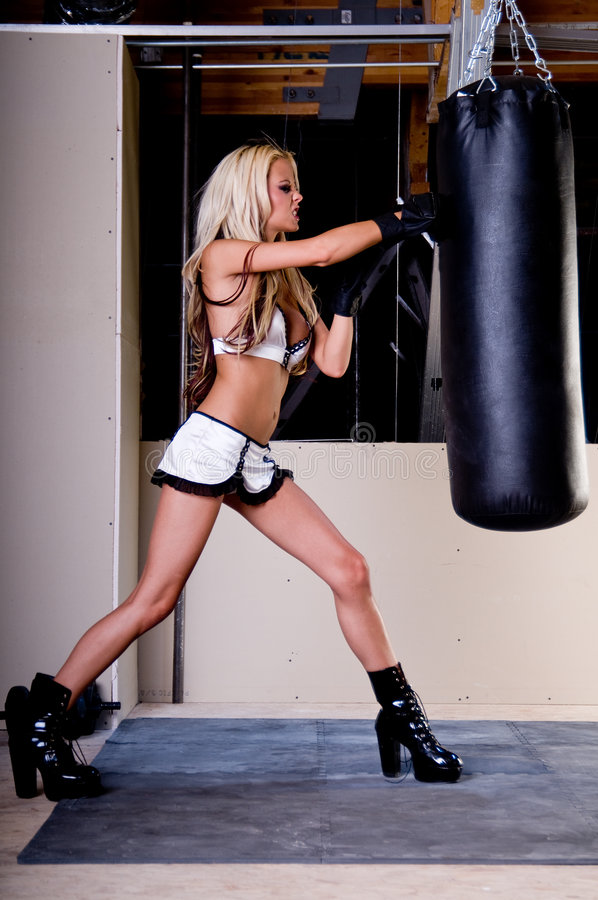 Combattente sexy di MMA fotografia stock