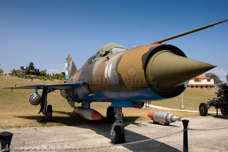 Combattente sovietico di MIG in Cuba fotografie stock libere da diritti