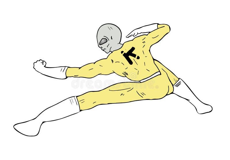 Combattente straniero illustrazione vettoriale