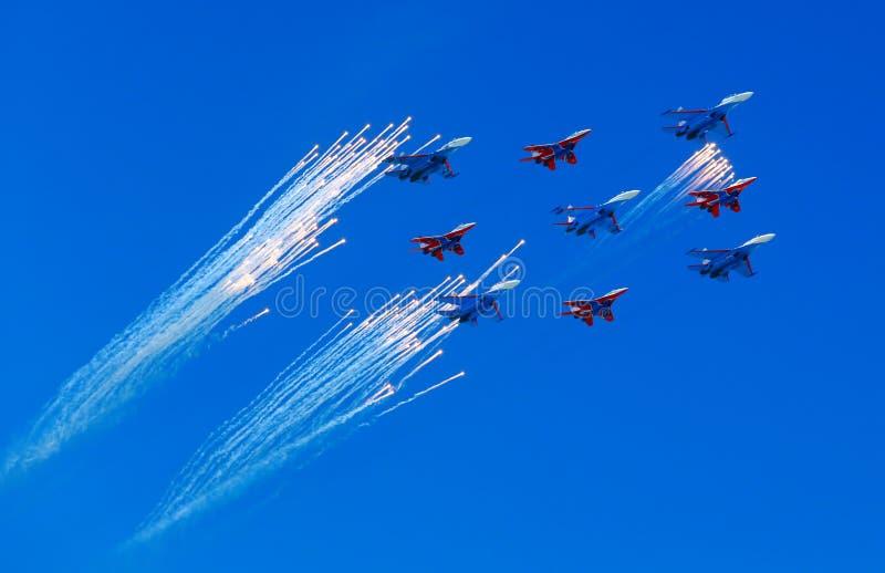 Combattenti nel cielo immagini stock libere da diritti