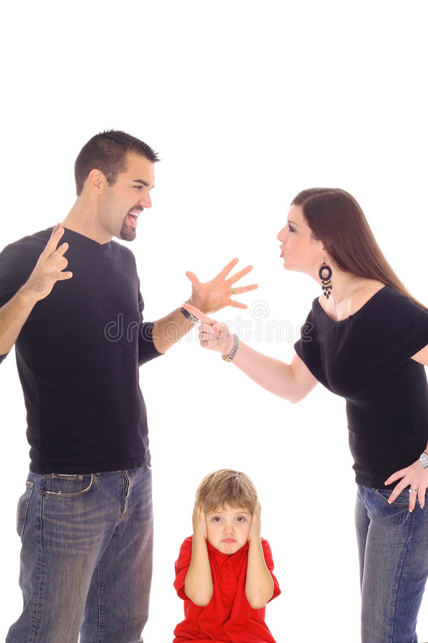 Combattimento dei genitori immagine stock libera da diritti