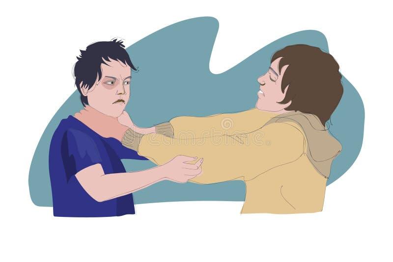 Combattimento dei ragazzi royalty illustrazione gratis