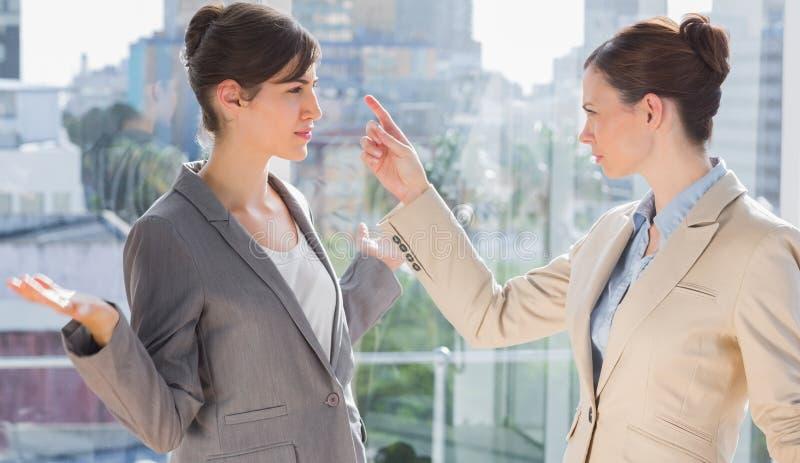 Combattimento delle donne di affari immagine stock