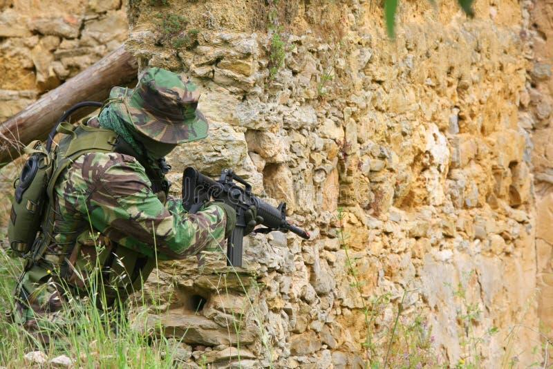 Combattimento di addestramento militare fotografia stock