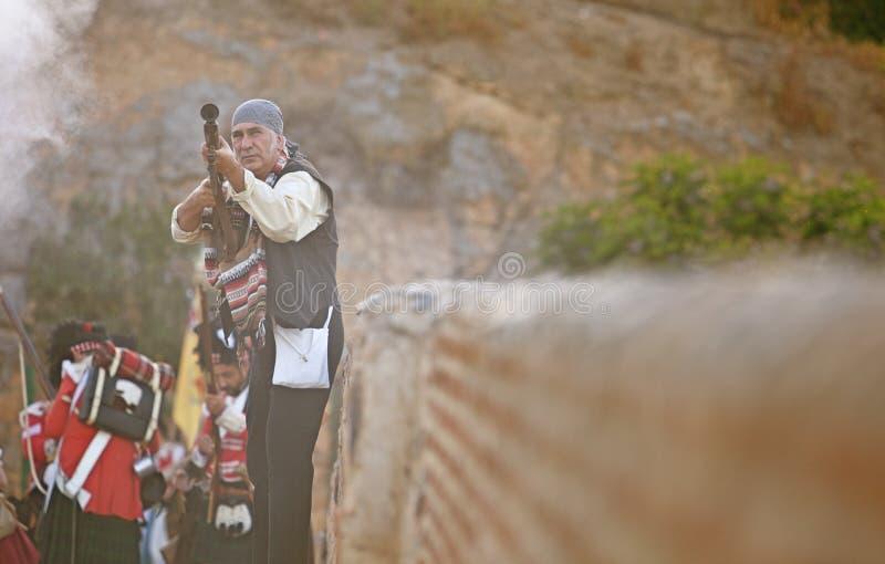 Combattimento spagnolo di bandolero o del bandito fra le truppe alleate fotografie stock