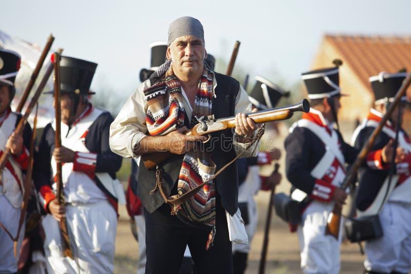 Combattimento spagnolo di bandolero o del bandito fra le truppe alleate fotografia stock libera da diritti