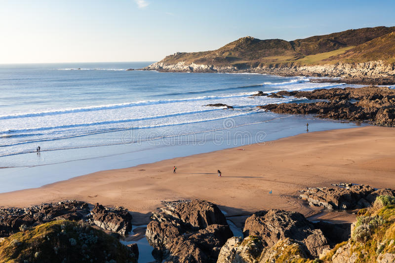 Praia Devon de Combesgate imagens de stock royalty free