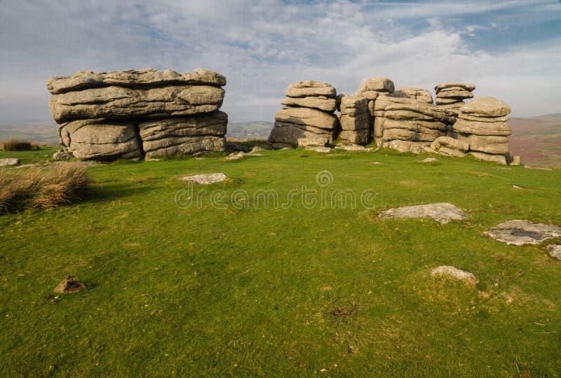 Combestone Tor, Dartmoor zdjęcia stock