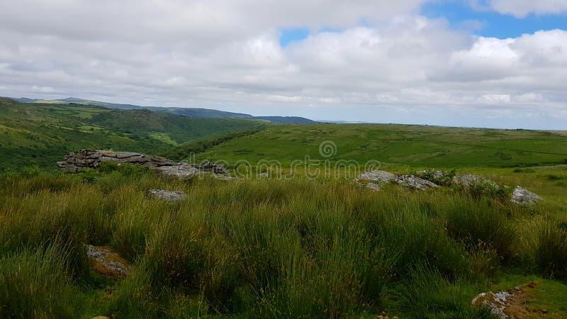 CombestoneTor, национальный парк Dartmoor, Девон Великобритания стоковое изображение