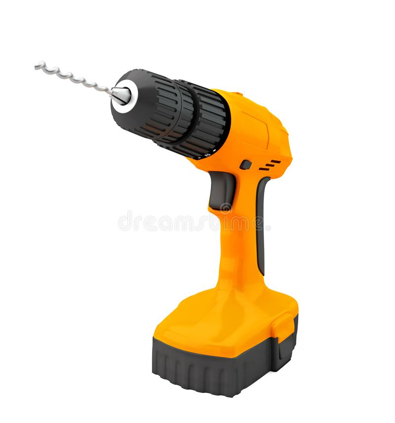 Combi Drill Impact Drill And Driver On White Background 3d Stock