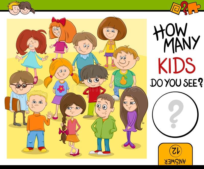 Combien d'enfants vous voient illustration libre de droits