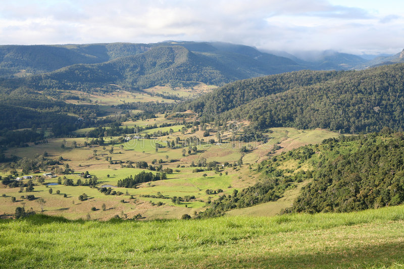 Combien le vert est-il ma vallée ? images libres de droits