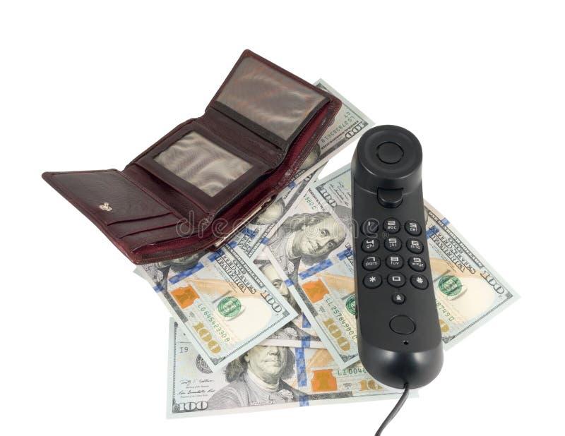 Combiné et argent image libre de droits