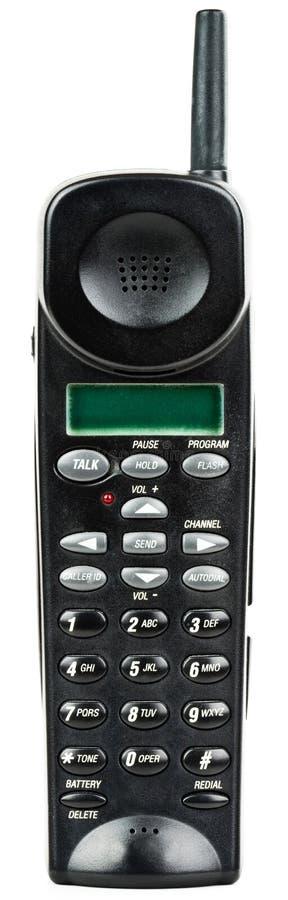 Combiné téléphonique de téléphone sans fil avec l'identification de demandeur photo libre de droits