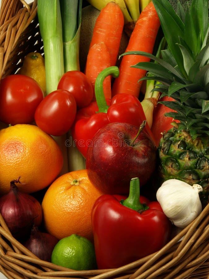 Combinação de vegetais e de frutas imagens de stock royalty free