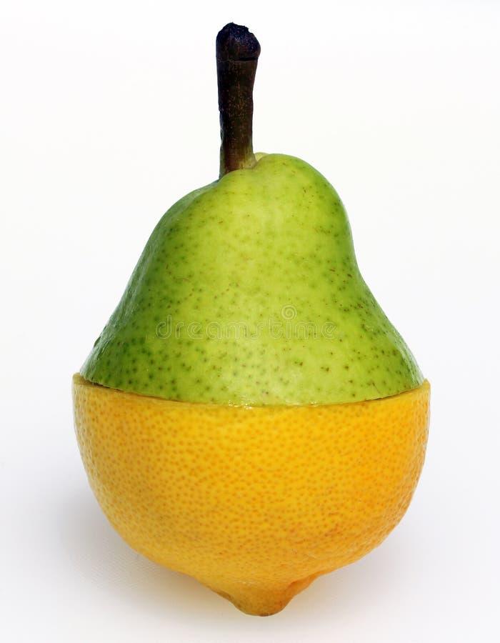 Combinación de la pera y del limón fotos de archivo libres de regalías
