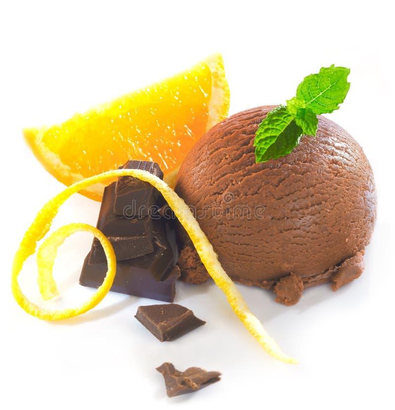 Combinado alaranjado do chocolate delicioso imagem de stock royalty free