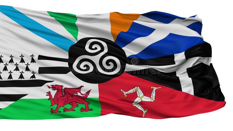 Combinado de la bandera céltica de las naciones, aislado en blanco stock de ilustración