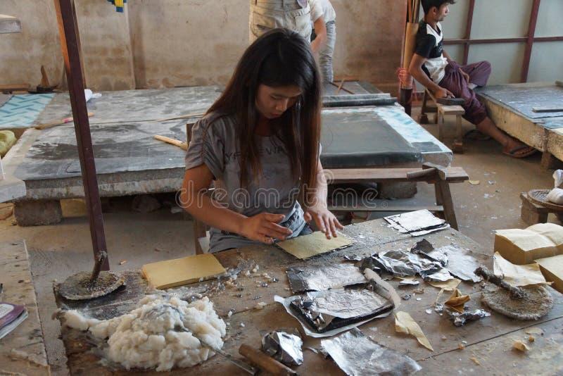 Combinaison de l'aluminium d'avance et du papier de bambou photo libre de droits