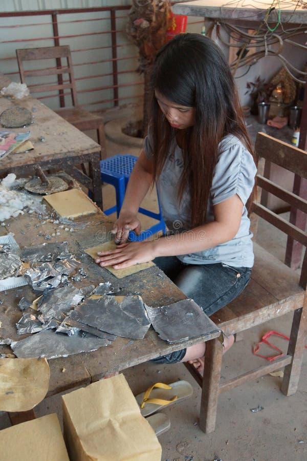 Combinaison de l'aluminium d'avance et du papier de bambou photos stock