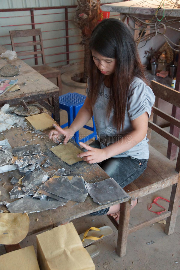 Combinaison de l'aluminium d'avance et du papier de bambou photographie stock libre de droits