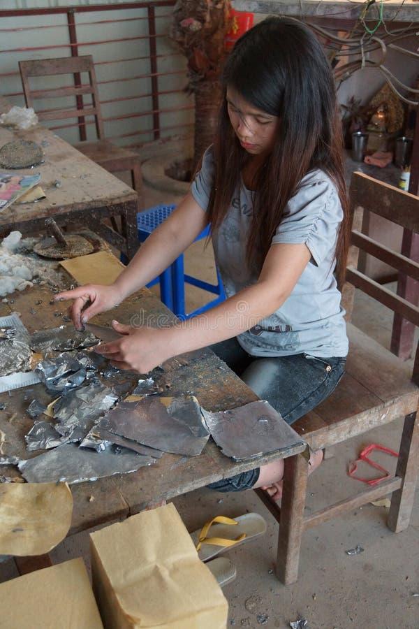 Combinando a folha da ligação e o papel do bambu imagens de stock