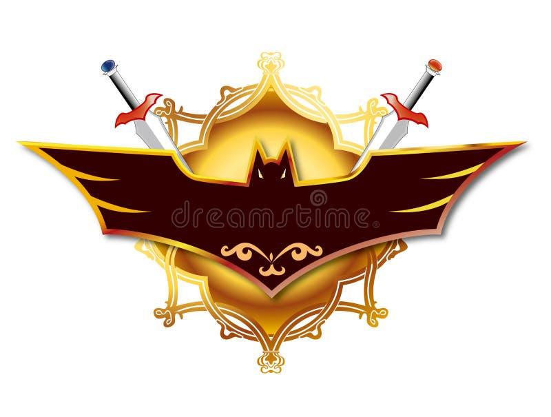 Combinatie van zwaard en knuppel royalty-vrije illustratie