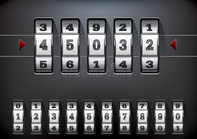Combination lock royalty free illustration