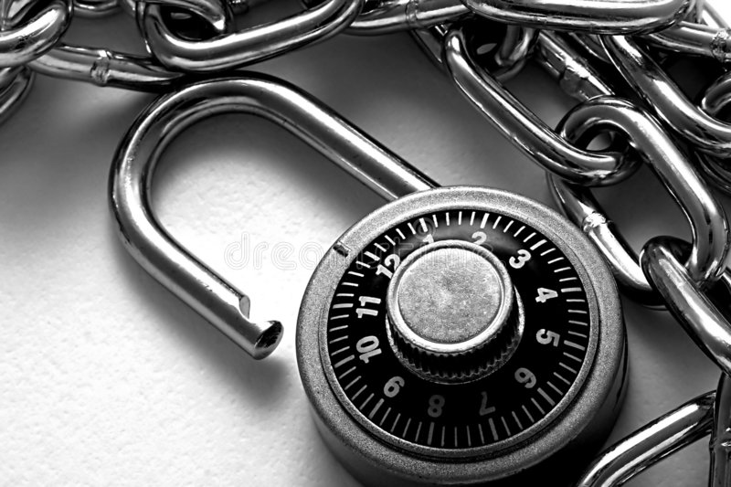 Download Combination Lock stock image. Image of combination, black - 244053
