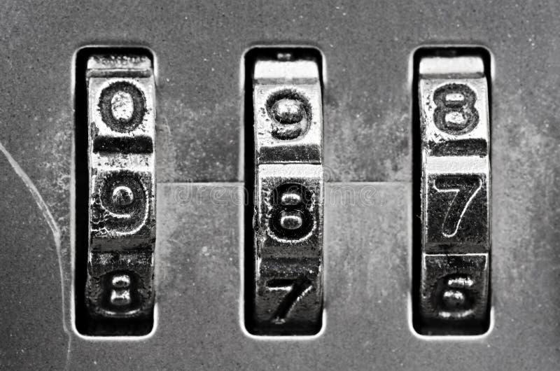 Combination Lock Dials Stock Photography