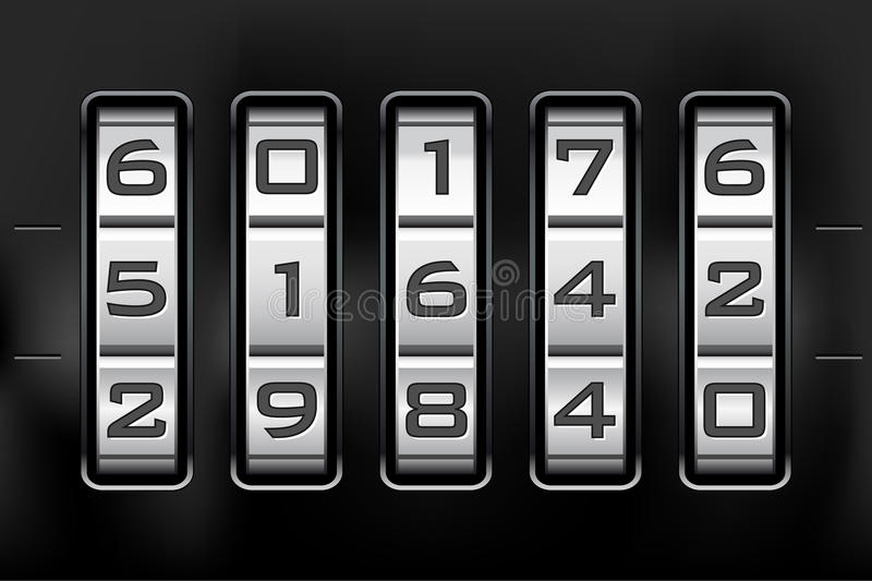 Download Combination Lock - Number Code Stock Vector - Image: 17476363