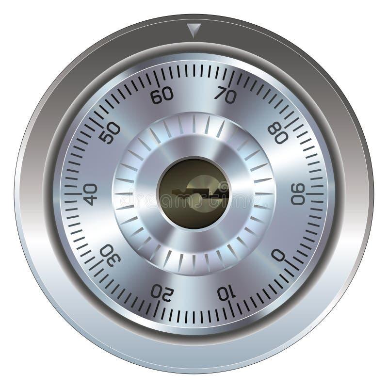Combination lock for safe stock illustration