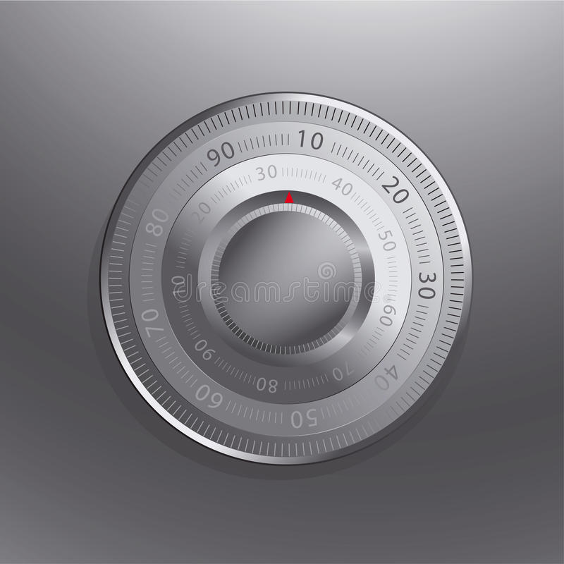 Combination Lock Of A Safe Royalty Free Stock Photos