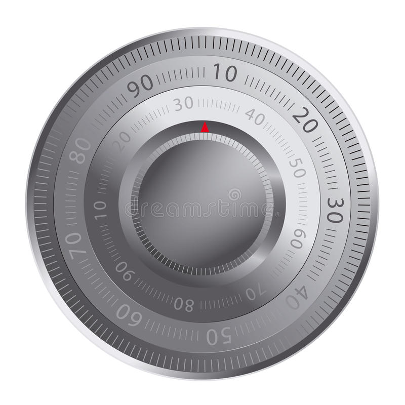 Combination Lock Of A Safe Royalty Free Stock Photography