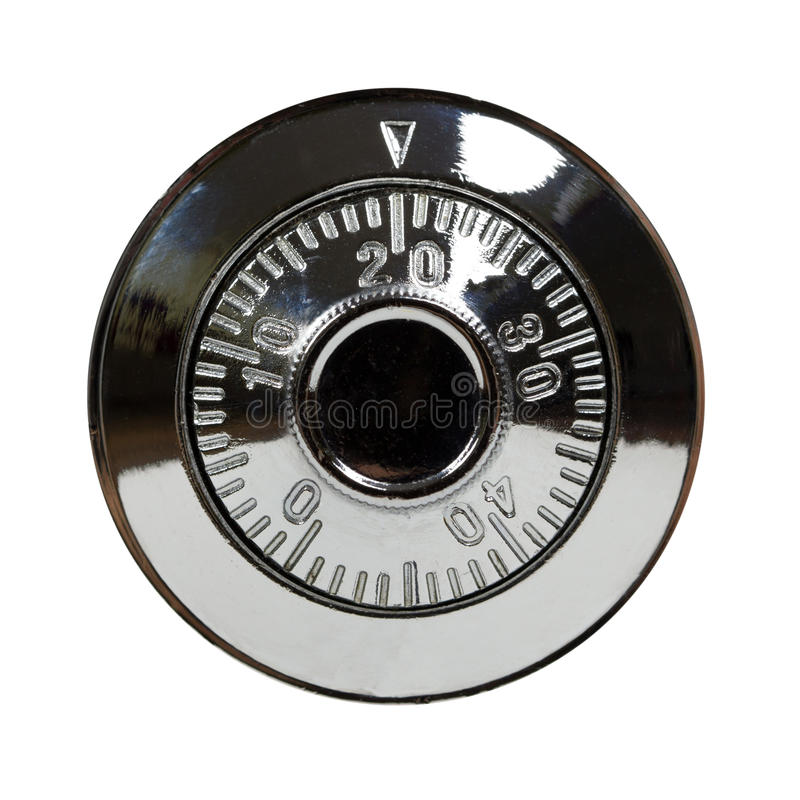 Combination lock. Safe combination lock isolated on white royalty free stock images