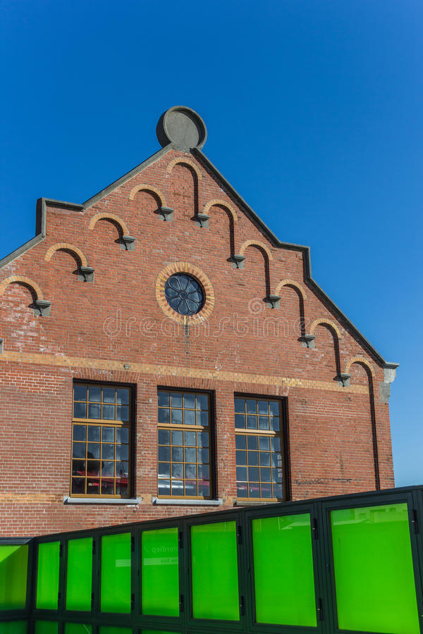 Combination of old and new architecture styles. In Groningen, the Netherlands stock image