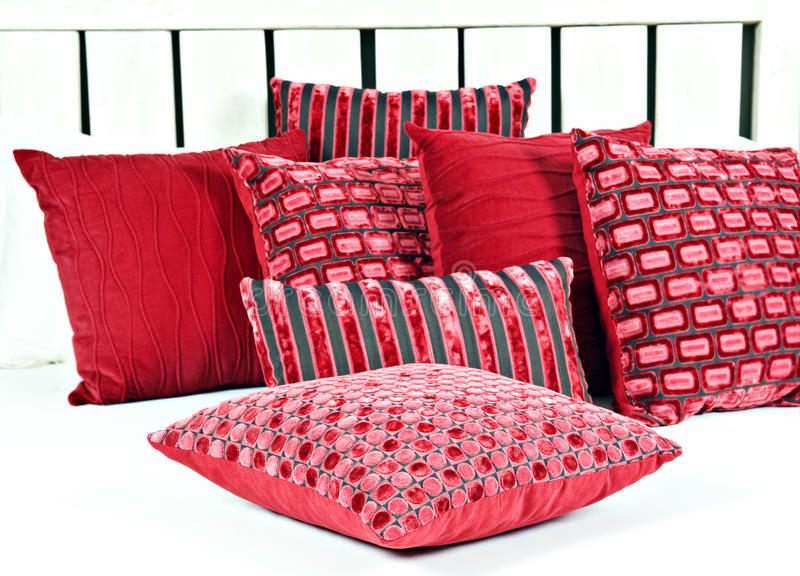combination of red and brown pillows royalty free stock images image 18553559. Black Bedroom Furniture Sets. Home Design Ideas