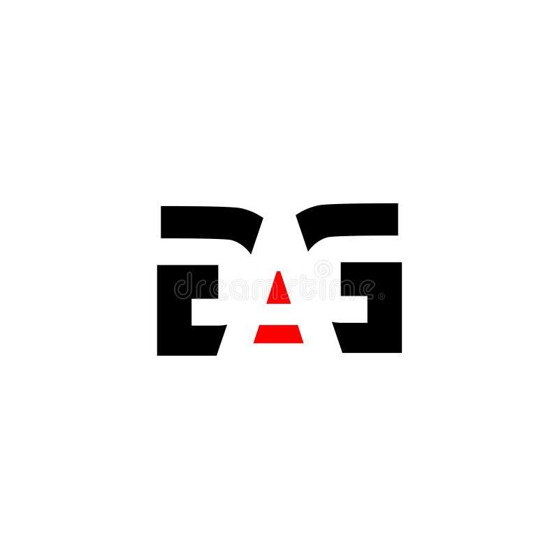 Combinazione del BAVAGLIO della lettera per l'elemento marcante a caldo della lettera di logo di progettazione della società illustrazione vettoriale