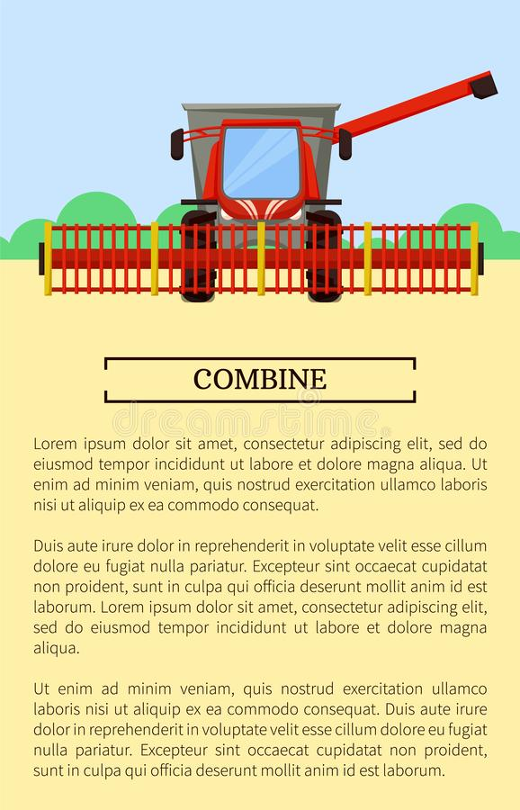 Combine Machine Field Poster Vector Illustration vector illustration
