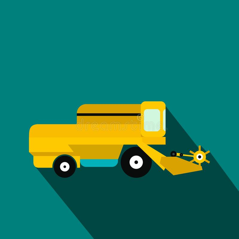 Combine flat icon. On a blue background stock illustration