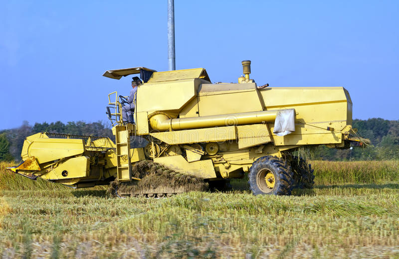 Download Combine harvester stock photo. Image of harvester, rural - 22033242