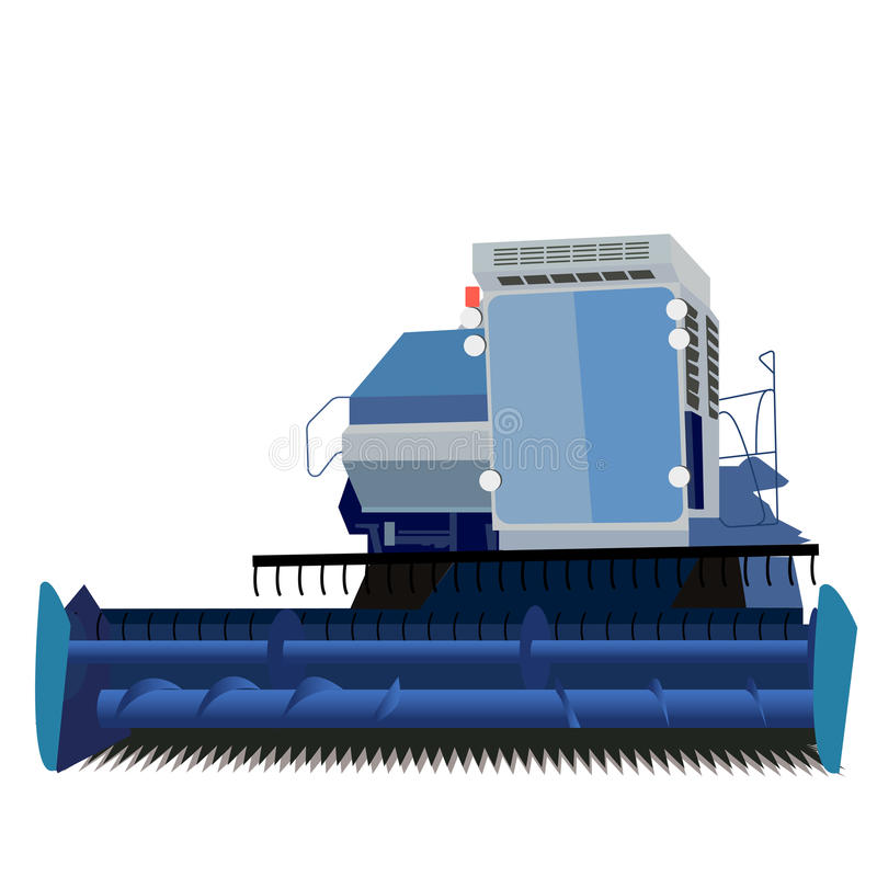 Combine harvester. On a white background stock illustration
