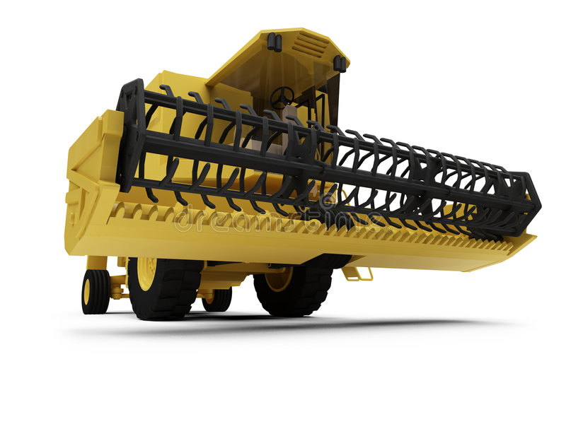 Combine Harvester. Isolated combine harvester on a white background vector illustration