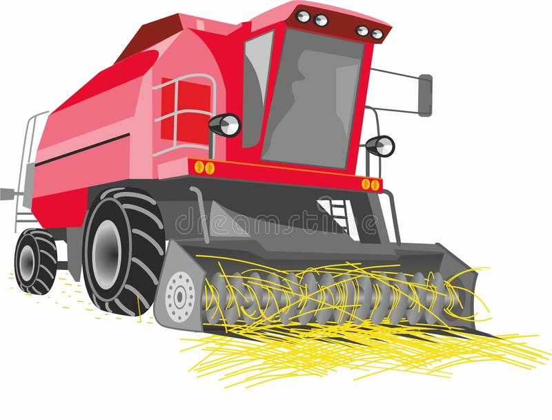 Red hay harvester. royalty free stock photo